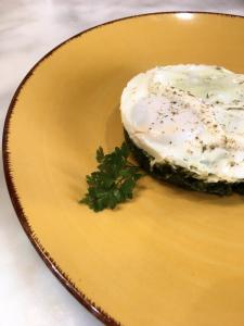 Uovo e cicorie in Vasocottura